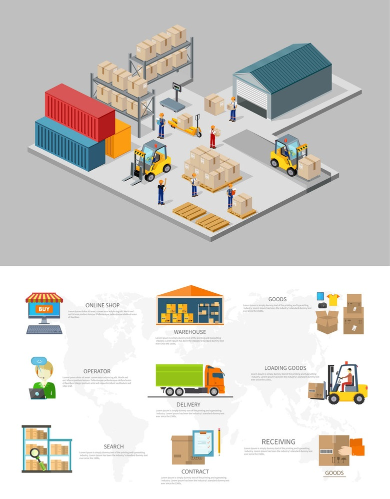 icon 3d isometric process warehouse vector 6794489 Thẻ RFID